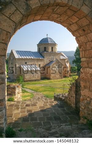 Gradac monastery, Serbia - stock photo