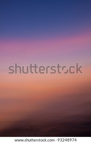Gradation of the evening sky, the sky is almost the color gradients. - stock photo