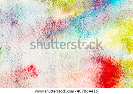 Gradation watercolor on paper abstract background. - stock photo