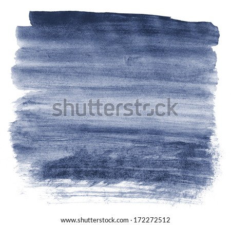 Gradient watercolor background in blue - stock photo