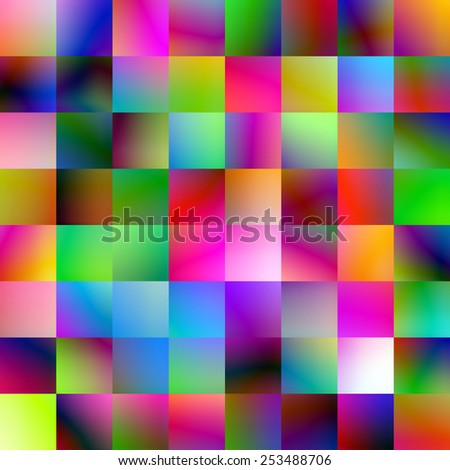Graduated color square blocks abstract. - stock photo