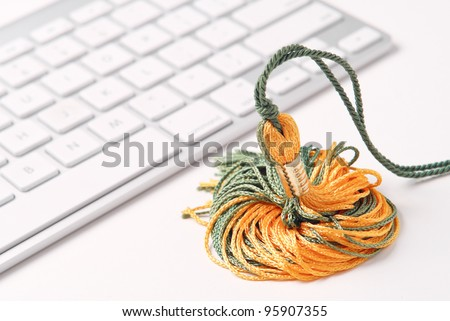 Graduating with An Online Degree - stock photo