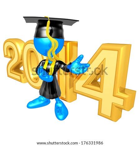Graduation 2014 - stock photo