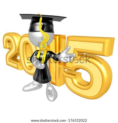 Graduation 2015 - stock photo