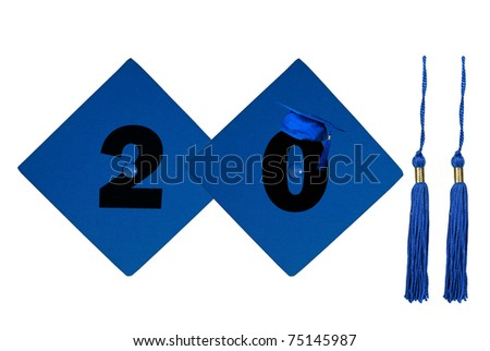 graduation cap and tassel for 2011 - stock photo