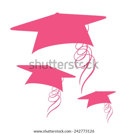 Graduation Caps - stock photo