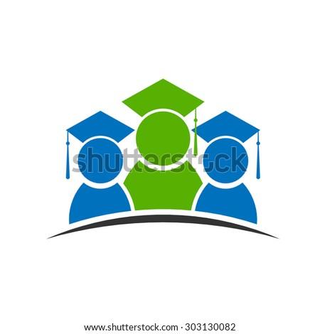 Graduation class student logo - stock photo