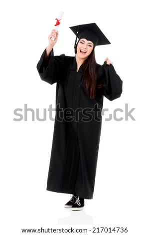 Graduation girl - stock photo