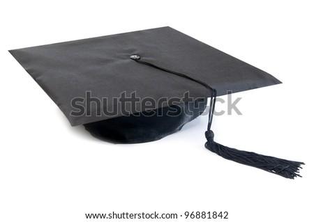 Graduation hat - stock photo