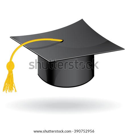 Graduation student hat cap icon symbol of education raster version.
