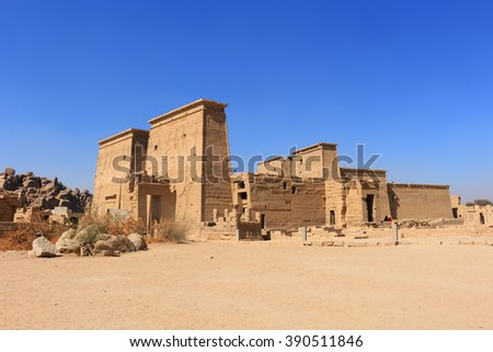 Graeco-Roman Temple of Philae  dedicated to the Aswan,  Egypt