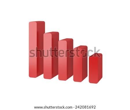 graf chart 3d icon - stock photo
