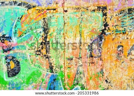 Graffiti / Abstract / Peeling paint - stock photo