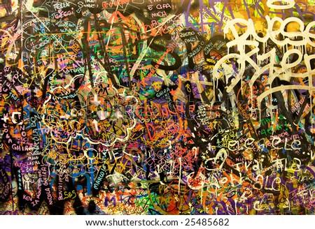 Graffiti background - stock photo