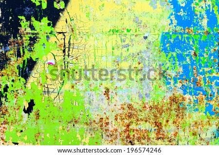 Graffiti Background / Peeling paint  - stock photo
