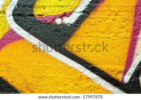 graffiti closeup - stock photo