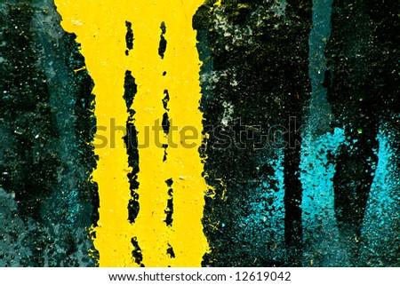 Graffiti leftover - stock photo