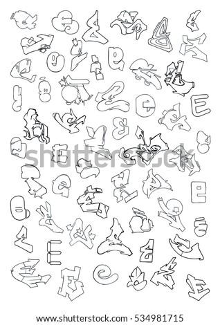 The Letter E In Graffiti Altin Northeastfitness Co