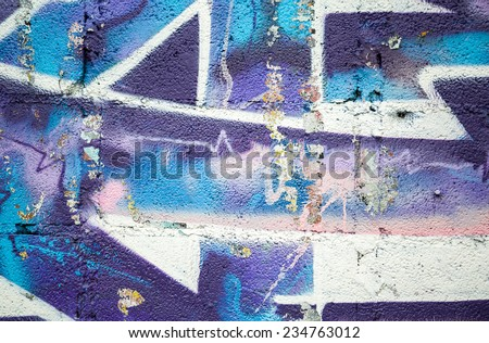 Graffiti made by unknown artists  on Street public gallery in thailand - stock photo