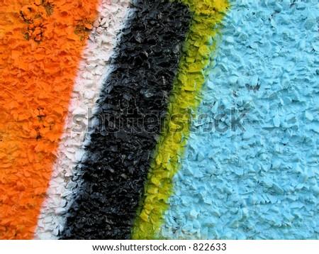 Graffiti wall detail - stock photo
