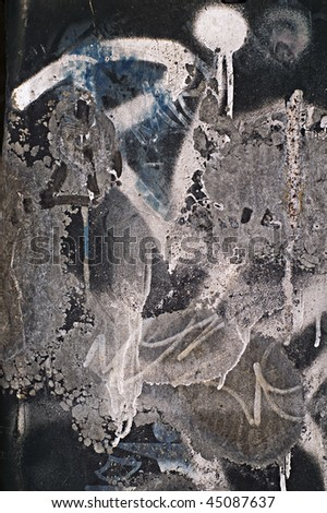 Graffity on concrete - stock photo