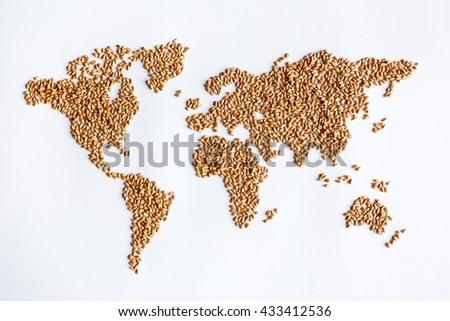 Grain continent - stock photo