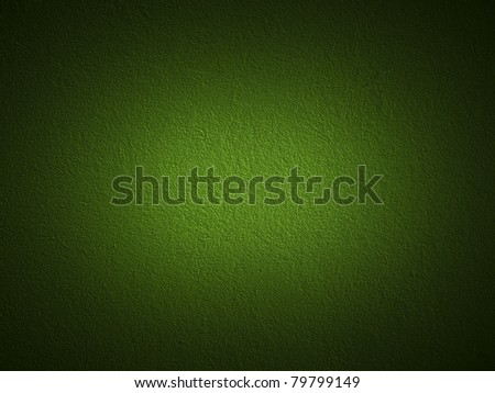 Grain dark green paint wall background or texture - stock photo