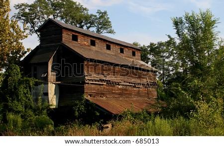 Grain Elevator Ruins - stock photo