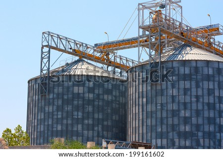 Grain Silos Construction  - stock photo