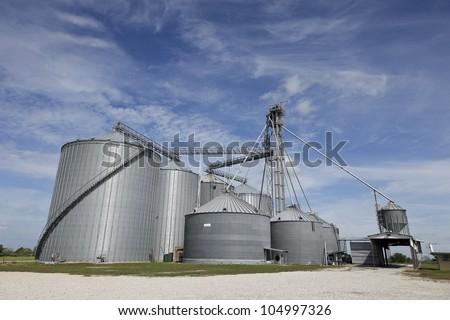 Grain Storage Compound Facility in Texas. - stock photo