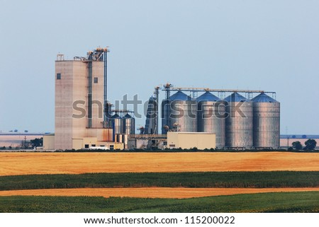 Grain warehouse - stock photo