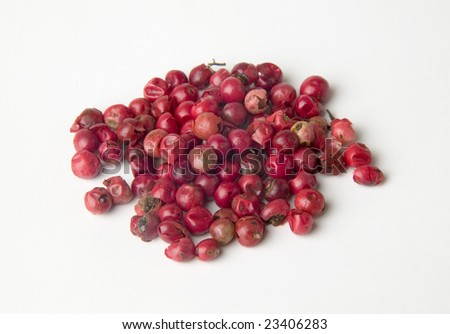 Grains of red pepper - stock photo