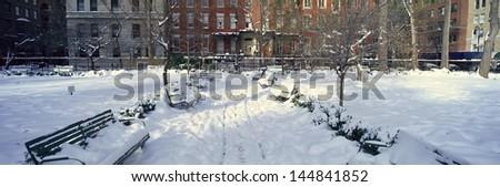 Gramercy Park in Manhattan, New York City, New York  - stock photo