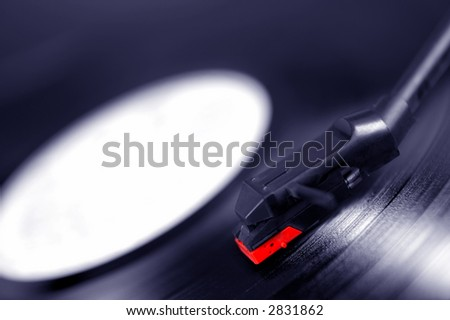 Gramophone turntable and vinyl disc.
