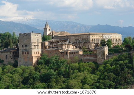 Granada city of Spain in Europe - stock photo