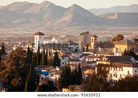 Granada in Spain - stock photo