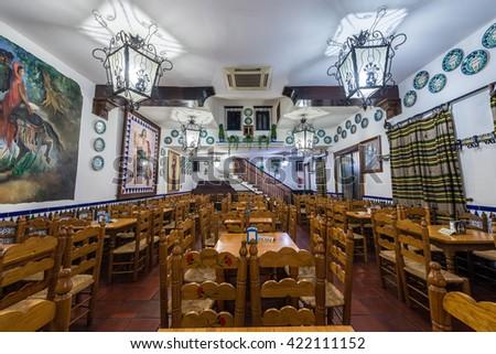 GRANADA, SPAIN - NOVEMBER 28, 2015: Pena La Plateria in Barrio Albaicin in Granada, Andalusia, Spain - stock photo