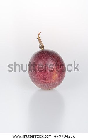 Granadilla isolated on white background