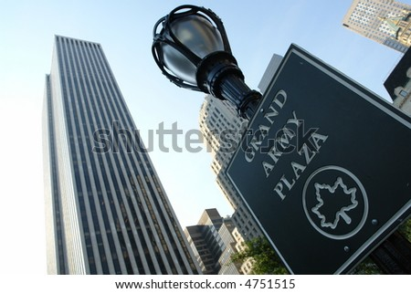 Grand army plaza in new york city - stock photo