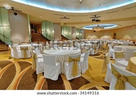 Grand ballroom in a hotel - stock photo