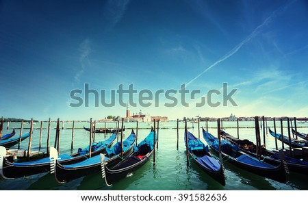 Grand Canal and San Giorgio Maggiore church, Venice, Italy - stock photo
