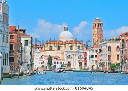 Grand Canal in Venice, Italy - stock photo