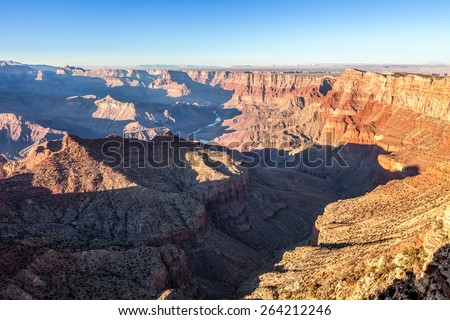 Grand Canyon and Colorado River at sunset, Arizona, USA