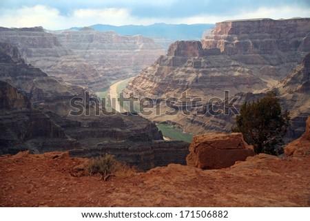 Grand Canyon and Colorado river, National Park, Arizona, USA - stock photo