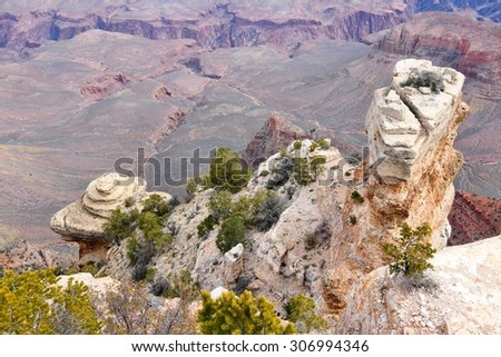 Grand Canyon, Arizona - American landscape view from Yaki Point. - stock photo