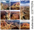 Grand Canyon collage - stock photo
