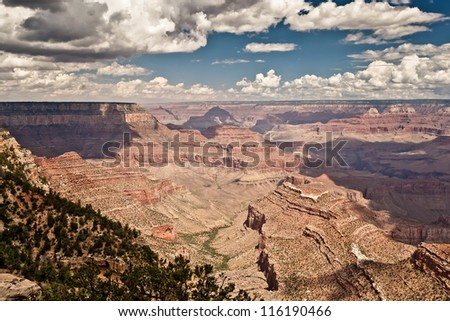 Grand Canyon during sunny day - stock photo