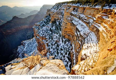 Grand Canyon in Arizona - stock photo