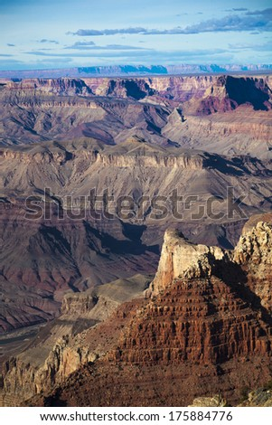 Grand Canyon in complementary colors - stock photo