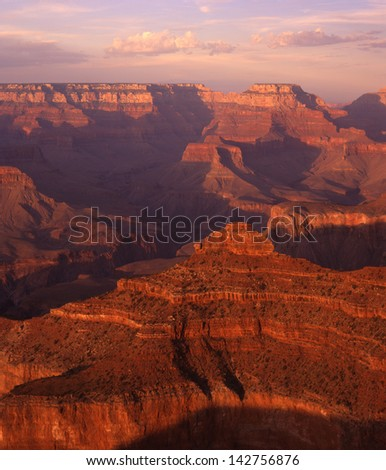 Grand Canyon National Park, Arizona/Grand Canyon/from the south and north rim to the interior, this wonder of the world has a lot to offer any traveler, hiker, or vacationing  family. - stock photo